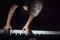 Pianist för pianospelare Royaltyfri Fotografi