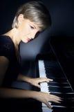 Pianist för pianospelare Fotografering för Bildbyråer