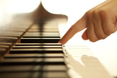Pianist hand Stock Photo