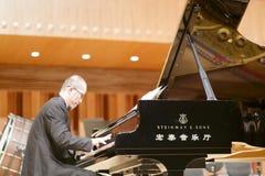 Pianist julian zhu Royaltyfri Foto