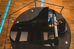 Pianist performing at Expo 2015 in Milan, Italy Stock Photography