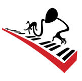 Pianist. Piano player carries out a solo on piano Stock Image