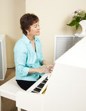 Pianist Playing Church Hymns Royalty Free Stock Photos