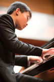 Pianist playing in a classical music concert at the Shanghai Con Royalty Free Stock Photography