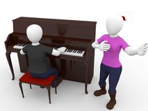 Pianist and singer Stock Image