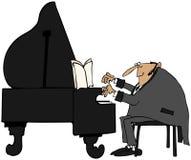 Pianist in staarten stock illustratie