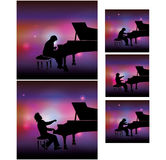 Pianist on stage Royalty Free Stock Photo