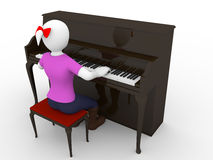 Pianist woman Stock Photos
