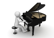 Pianista Fotografia Stock Libera da Diritti