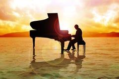 Pianista illustrazione vettoriale