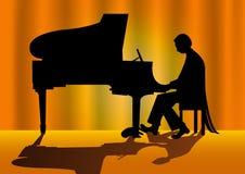Pianista Imagens de Stock Royalty Free