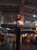 Pianista de la banda de la dirección, de Rawnie Paton, del canto y de atascos encendido Foto de archivo