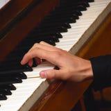Pianista de la mano imagen de archivo