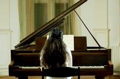 Pianista del concierto en el piano Imagen de archivo libre de regalías