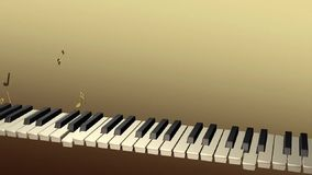 Pianista del fantasma che gioca con le note che aumentano dalle chiavi video d archivio