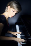 Pianista del giocatore di piano immagine stock