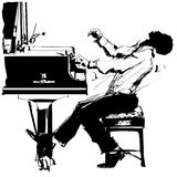 Pianista di jazz illustrazione di stock