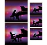 Pianista in scena Fotografia Stock Libera da Diritti