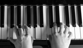 Pianista sztuki pianina muzyka Obraz Stock