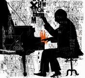 pianiste illustration libre de droits