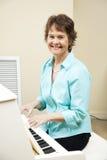 Pianiste d'église Photo stock