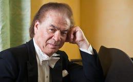 Pianiste d'homme aîné Photos libres de droits