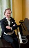 Pianiste d'homme aîné Photo stock