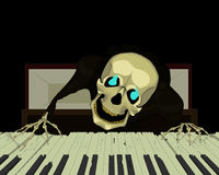 Pianiste squelettique Photographie stock