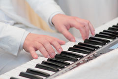 Pianists hands Stock Images