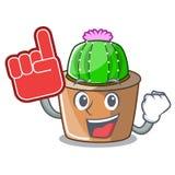 Piankowy palcowy maskotki gwiazdy kaktus dekoruje w ogródzie royalty ilustracja