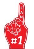 piankowy palec - fan palec Fotografia Stock