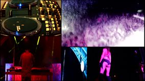Piankowy Tłuc przyjęcie dj, odbłyśnika vj zaświeca…. zbiory