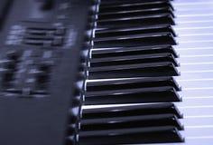 Piano électronique Images stock