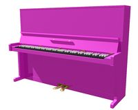 Piano. Pink piano with black keys vector illustration