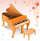 Piano. Vector illustration of the piano Royalty Free Stock Images