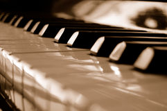 Piano. In black/white, an instrument to play Royalty Free Stock Image
