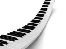 Piano. Abstract 3d illustration of piano background Stock Photos