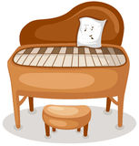 Piano. Illustration of isolated grand piano  on white background Stock Photography