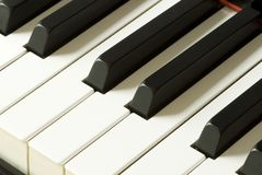 Piano. Keybord with white and black keys royalty free stock images