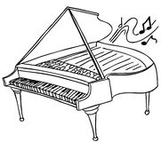 Piano. An image of a piano stock illustration