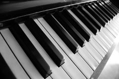 Piano. Keys in black and white Royalty Free Stock Photography