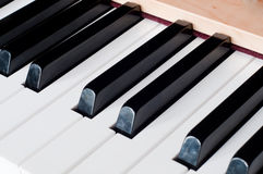 Piano. Shot of piano, blacj and white keys Royalty Free Stock Images