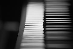 Piano. Keyboard. Black and white keys Royalty Free Stock Image