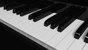 Piano. Keys isolated on black Vector Illustration