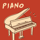 Piano vector Royalty Free Stock Photos