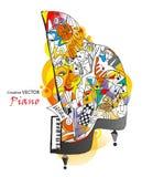 Piano vector illustratie