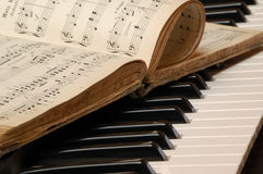 Piano. And the  book royalty free stock photos