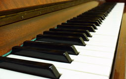 Piano. Keyboard close up shot royalty free stock photos