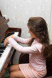 At the piano Royalty Free Stock Image