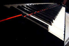 Piano. A night at the symphony concert - piano keyboard royalty free stock images